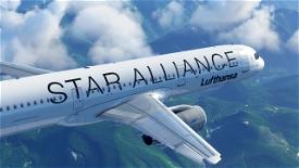 Lufthansa A321 (Star Alliance) Image Flight Simulator 2020