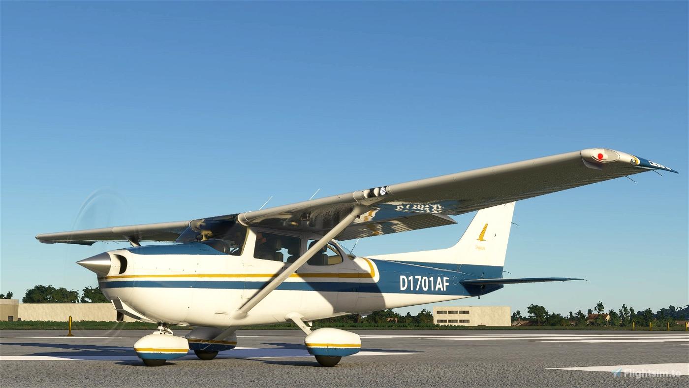 Cessna C172 Blue and Orange Livery (G1000) Flight Simulator 2020