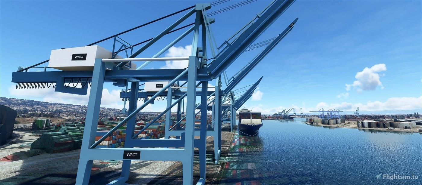 San Pedro Bay Port Facilities, Los Angeles & Long Beach CA USA V1.2