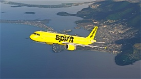 Spirit Airlines A321 (Yellow