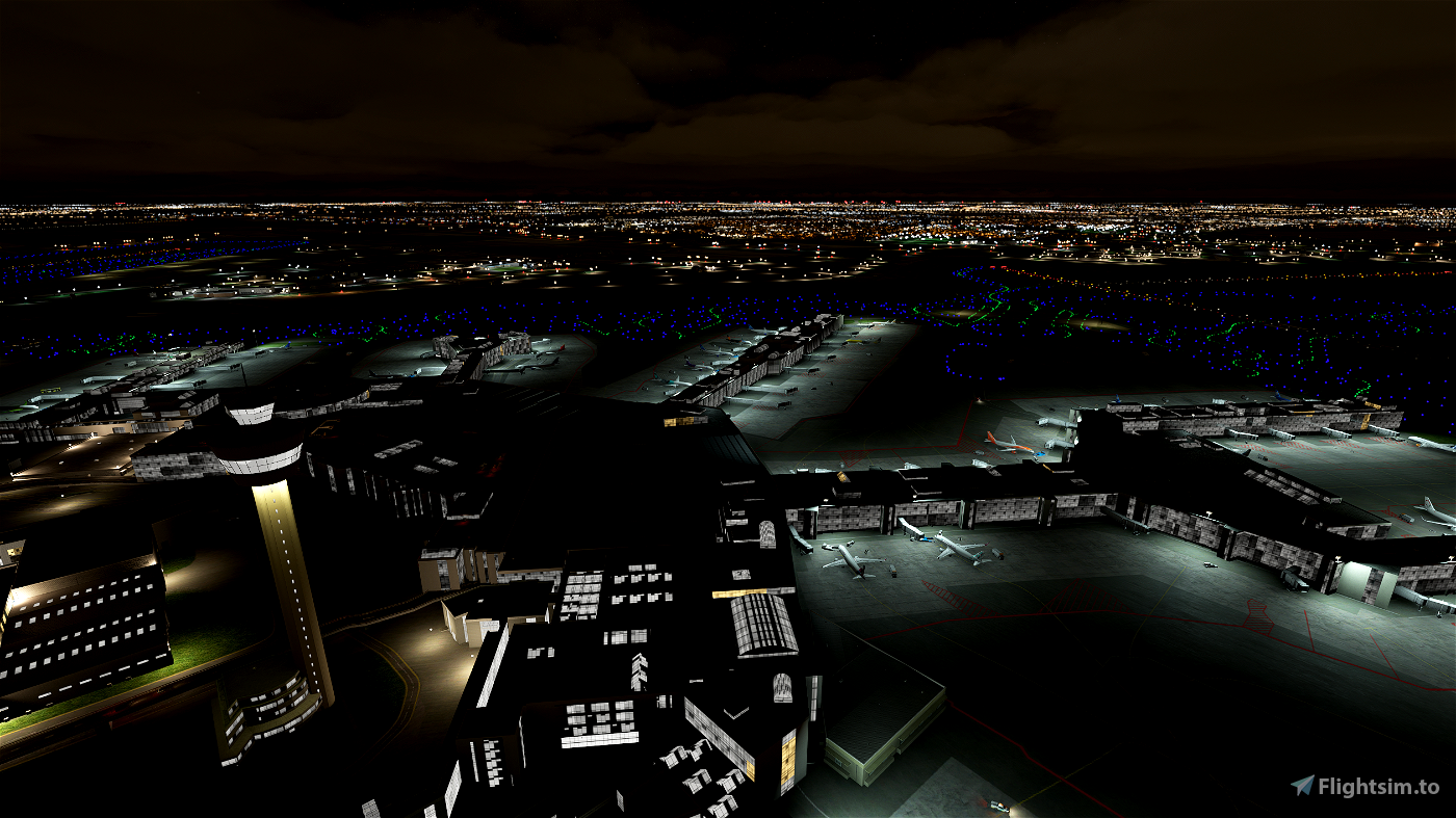 EHAM Schiphol Apron lighting Flight Simulator 2020
