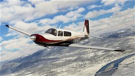 Red Gold Blue Livery for Carenado Mooney Image Flight Simulator 2020