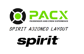 Spirit Airlines a320neo layout for PACX Image Flight Simulator 2020