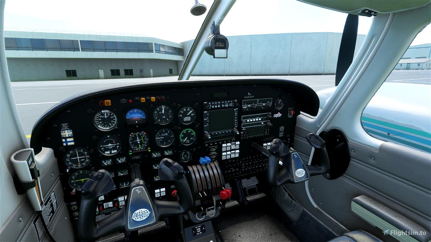 Black Cockpit for the Carenado Piper PA44 Seminole Flight Simulator 2020