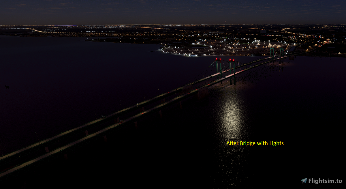 Delaware Memorial Bridge Flight Simulator 2020