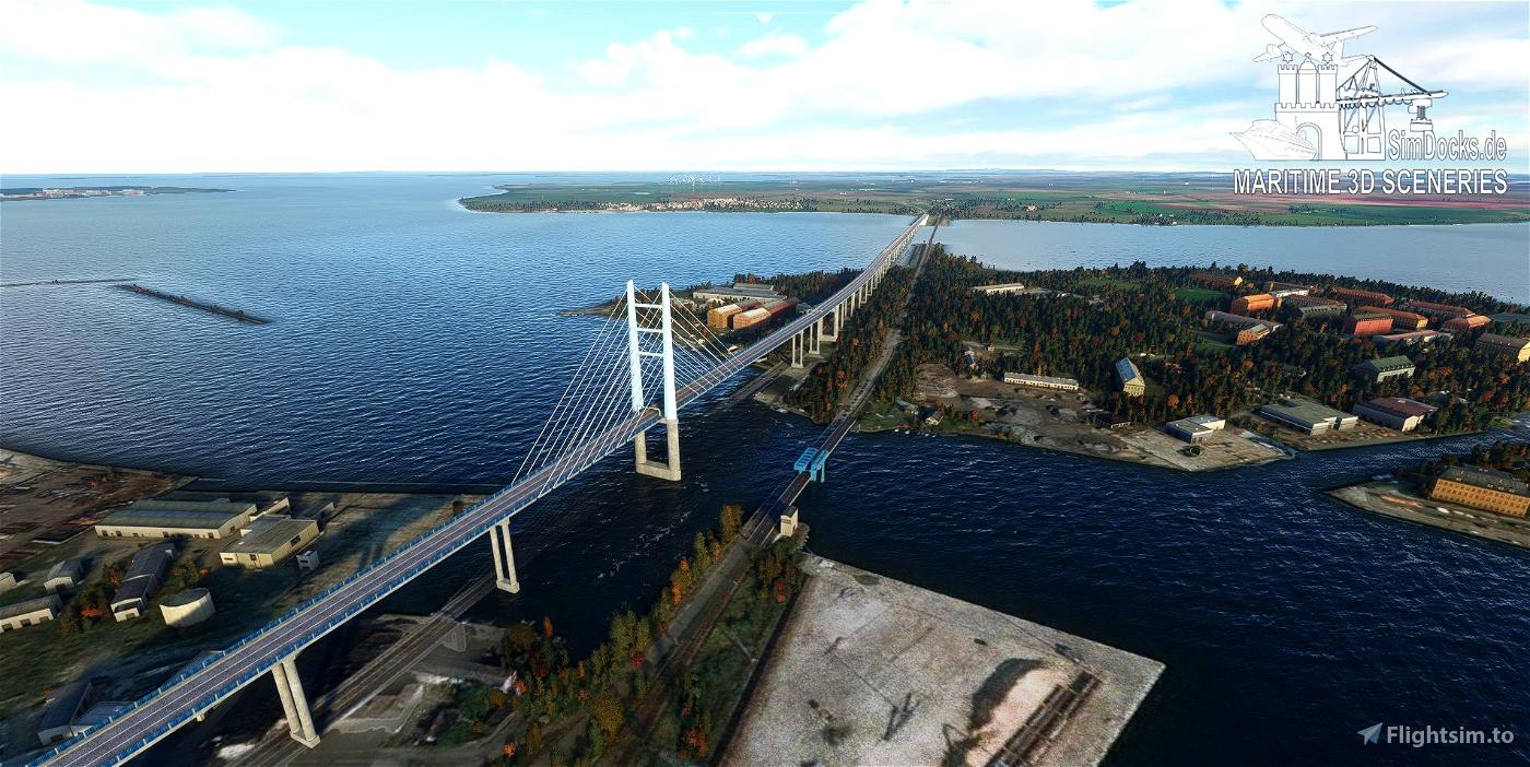 Ruegen Bridge Stralsund / Germany Flight Simulator 2020