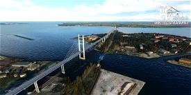 Ruegen Bridge Stralsund / Germany Image Flight Simulator 2020