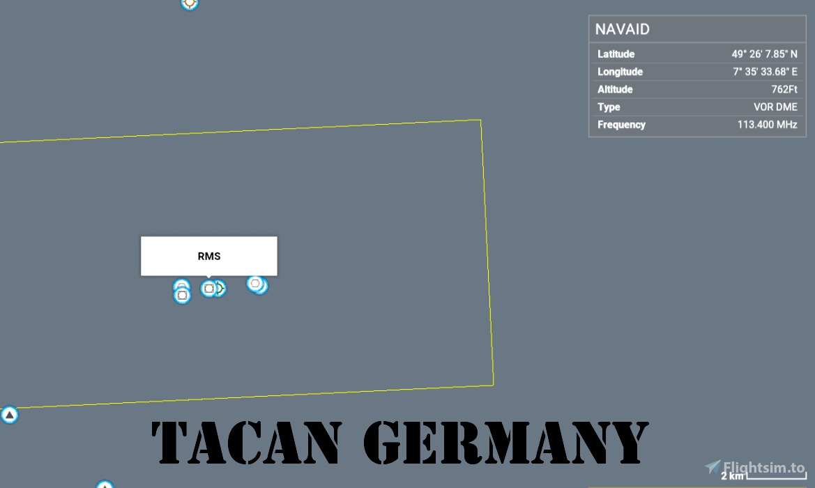 Working TACAN Beacons in Germany