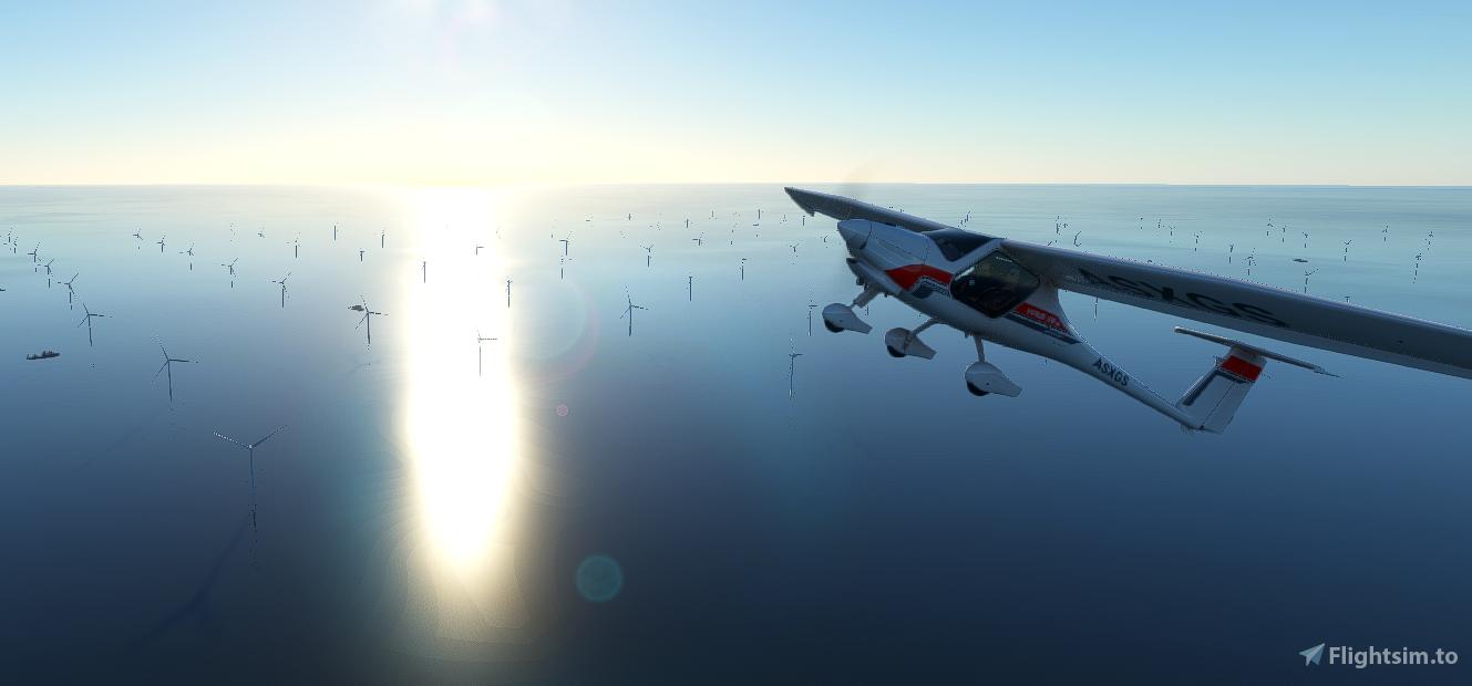 Brighton - Shoreham - Rampion Windfarm - Fixes  Flight Simulator 2020