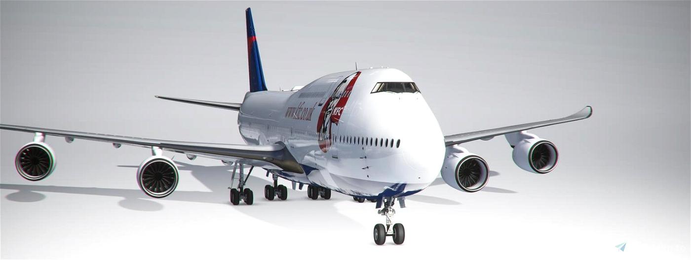 747-8I Delta KFC (4k, Right Side, Working) Flight Simulator 2020