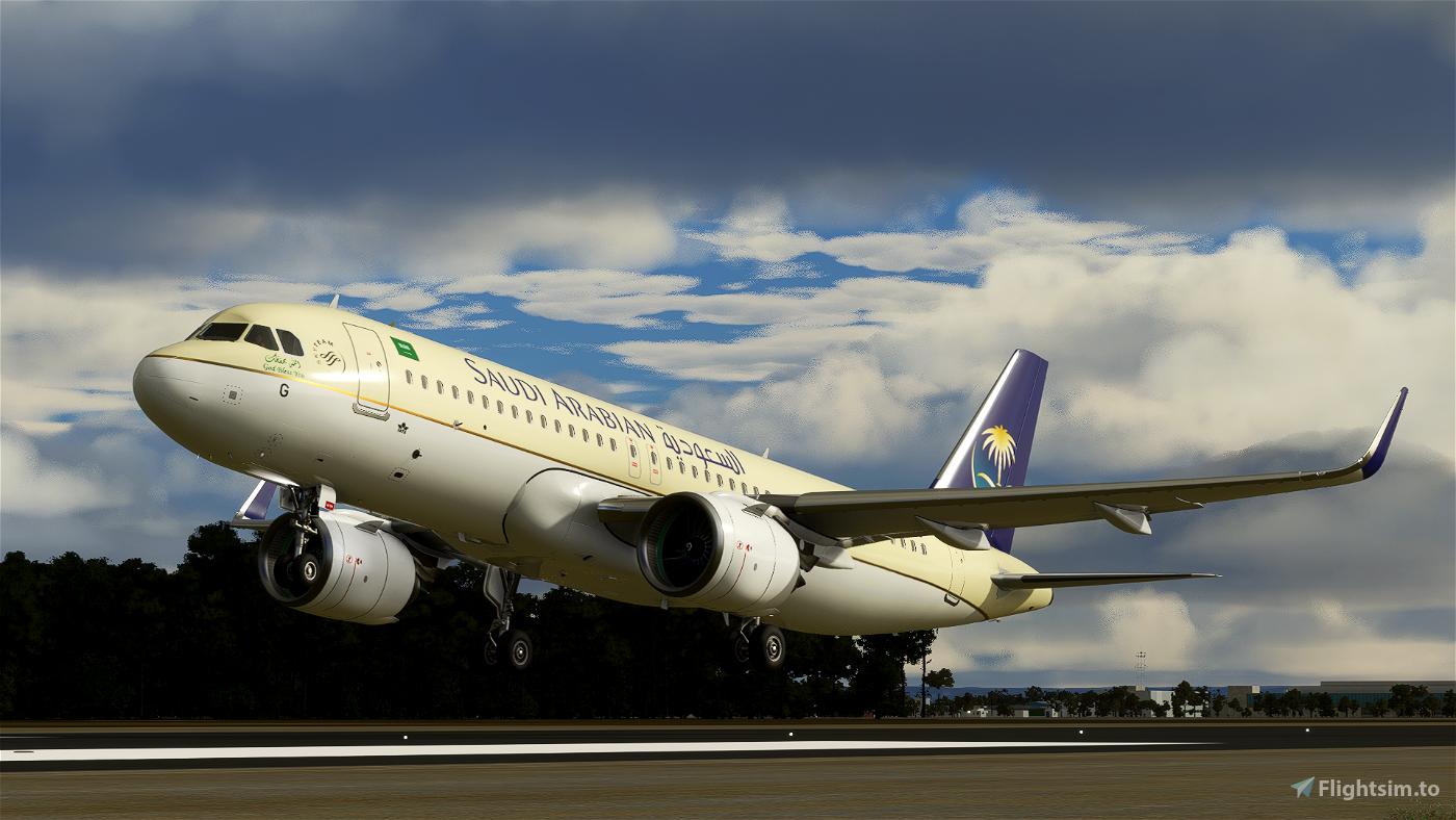 [4K Downscaled] Saudi Arabian Airlines A320neo
