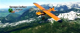 Savage Carbon - Laranja Image Flight Simulator 2020