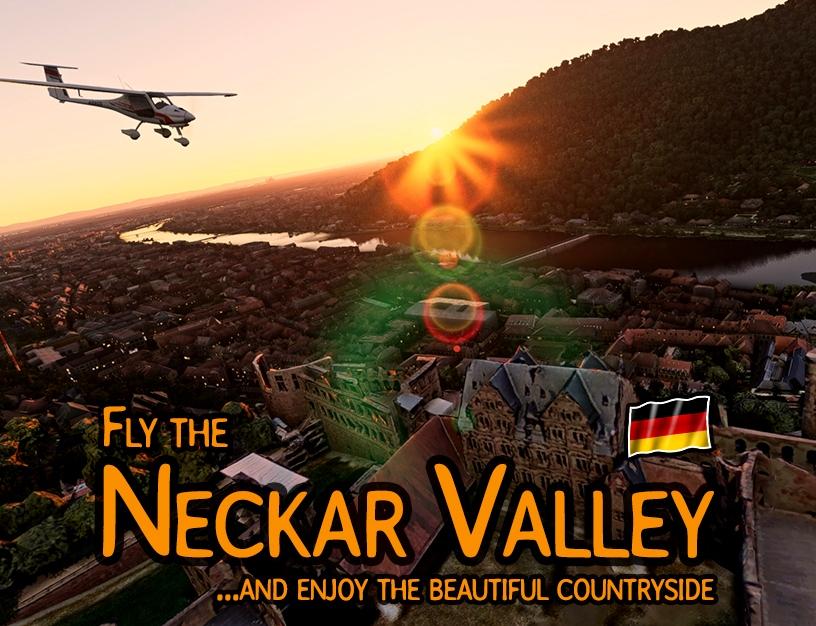 Neckar Valley - River bushtrip (DE,EN,ES,FR,IT,PL,PT,RU) Flight Simulator 2020