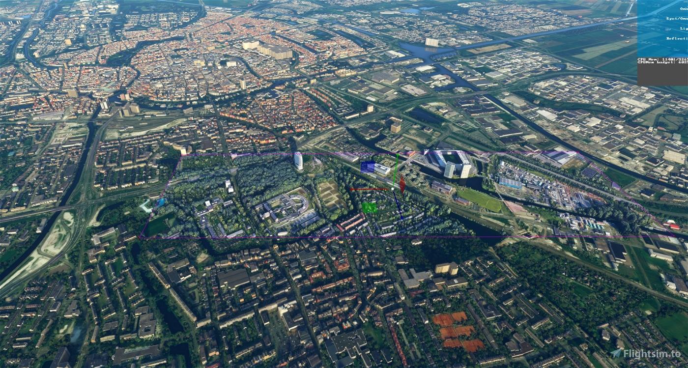 Groningen - Kempkensberg Euroborg Mesdagkliniek Flight Simulator 2020