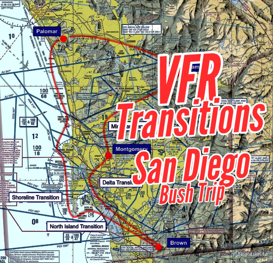 VFR Transitions at San Diego Flight Simulator 2020