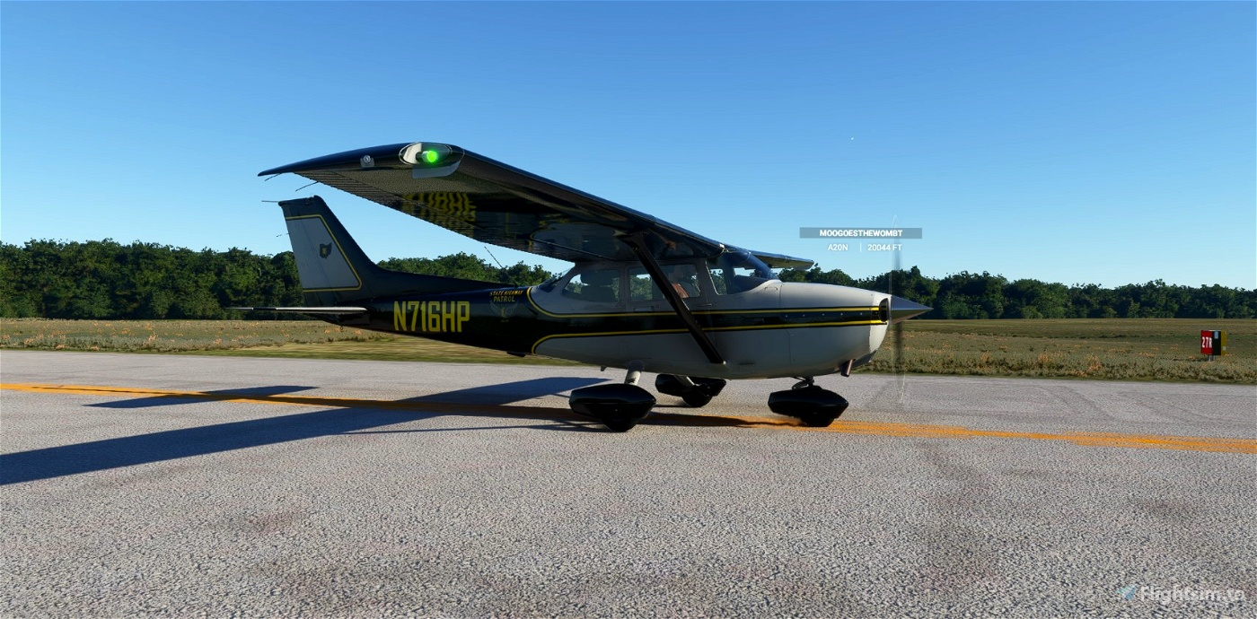 C172 Classic Ohio Highway Patrol N716HP Flight Simulator 2020