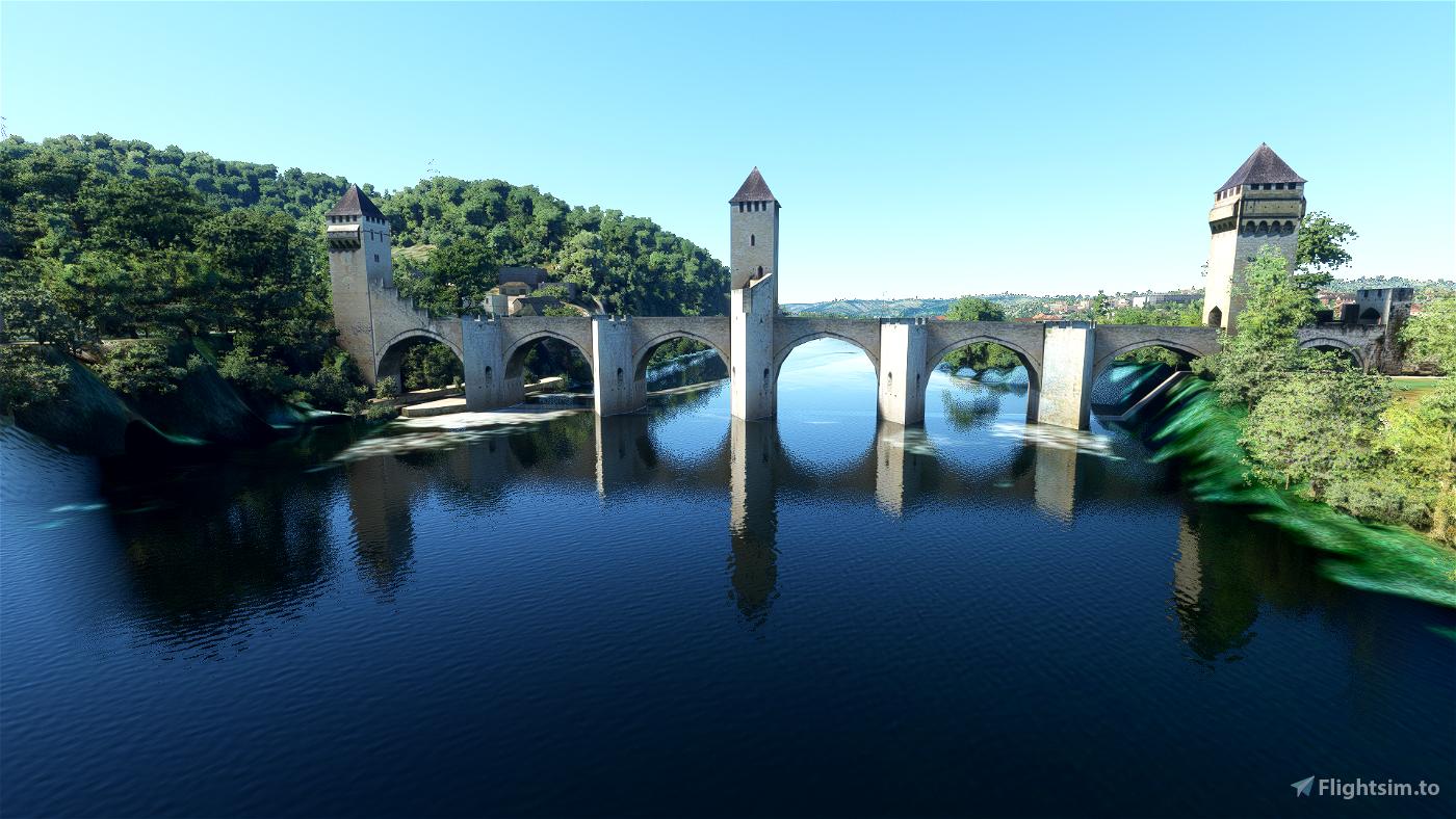 Pont Valentré, Cahors Flight Simulator 2020