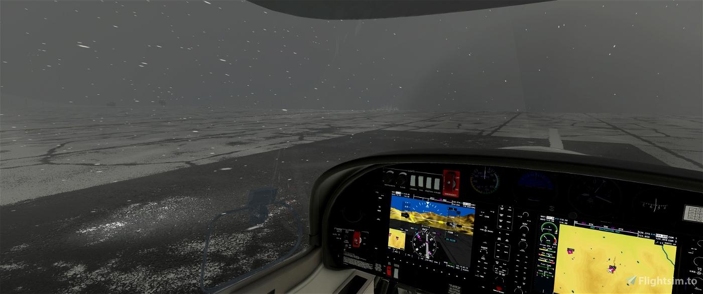 No Windshield Icing Effect Default Aircrafts Flight Simulator 2020