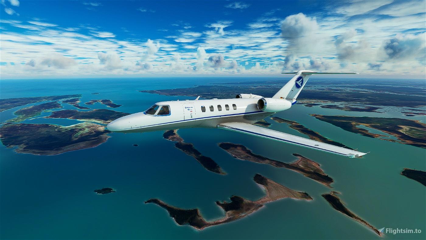 Citation CJ4 Hahn Air UPDATED (2 livery Versions)