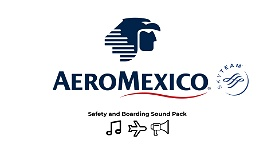 Aeromexico Safety Brief and Boarding Music Image Flight Simulator 2020