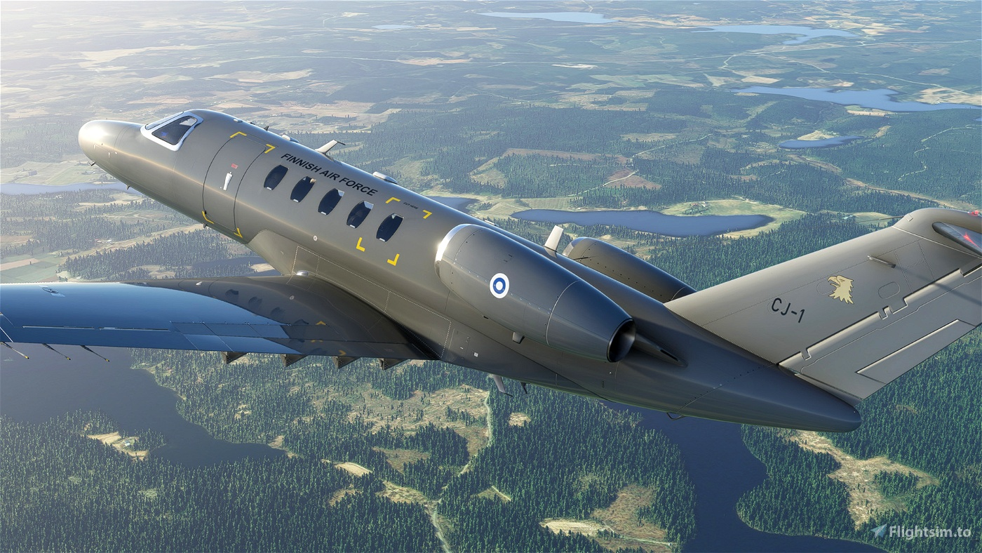 Cessna CJ4 - Finnish Air Force Flight Simulator 2020