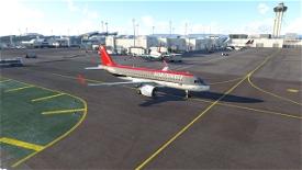 Northwest Airlines - SkyTeam Logo/Bowling Shoe [4K] - A320Neo Image Flight Simulator 2020