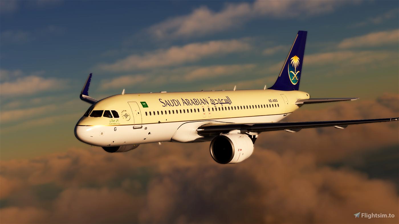 [4K Downscaled] Saudi Arabian Airlines A320neo Flight Simulator 2020