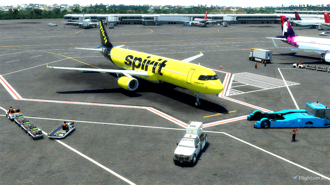 Spirit Airlines A321 (Black Tail) Flight Simulator 2020