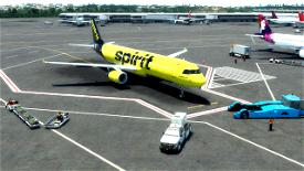 Spirit Airlines A321 (Black Tail) Image Flight Simulator 2020