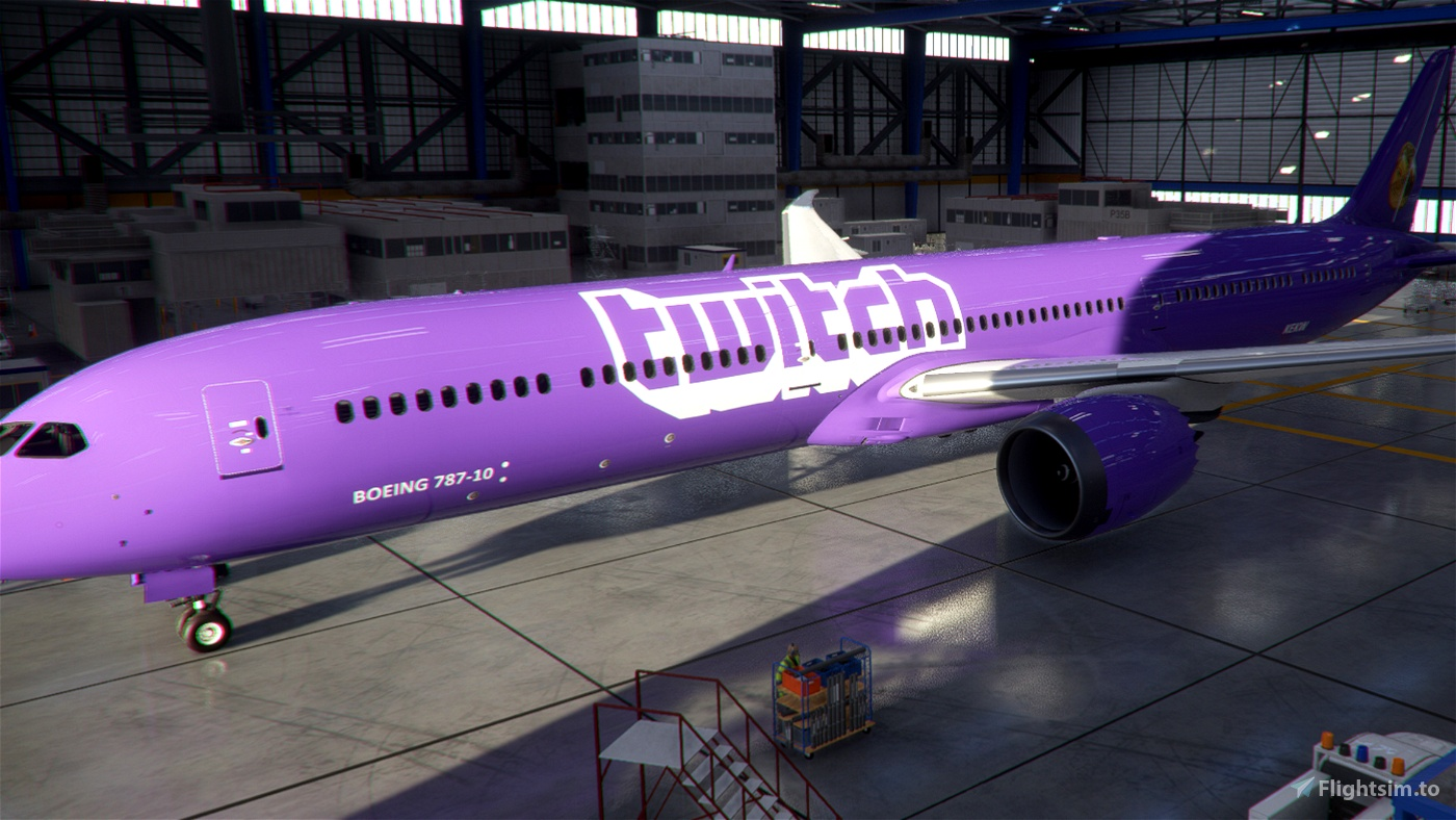 Twitch Livery Flight Simulator 2020