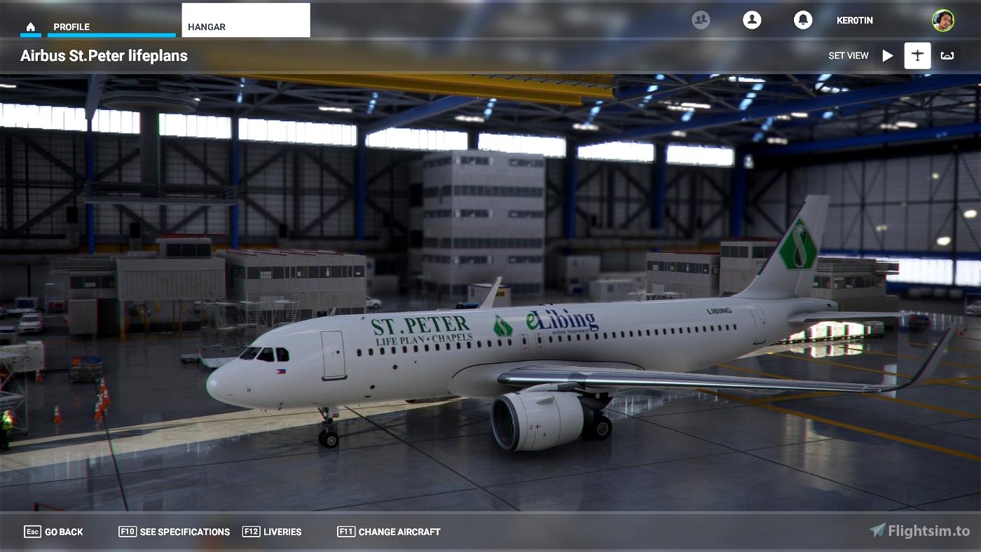 A32NX St. Peter Lifeplans A320 Flight Simulator 2020