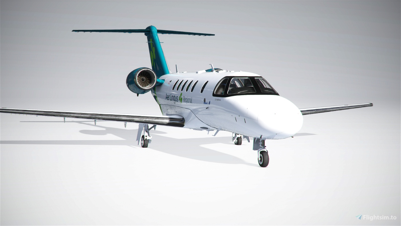 Citation CJ4 Aer Lingus (with custom Interior) UPDATED Flight Simulator 2020