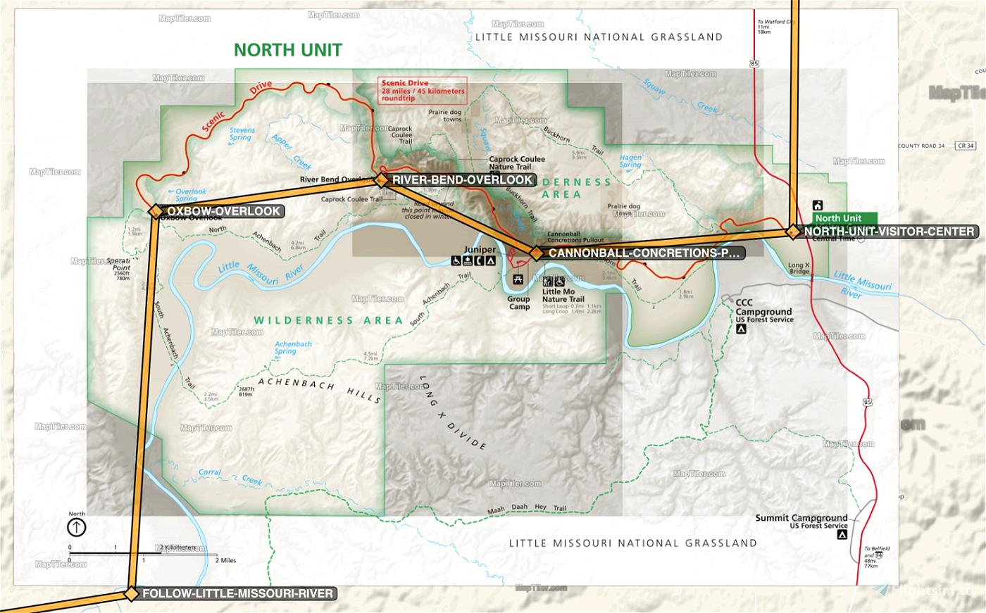 Theodore Roosevelt National Park Flight Plan