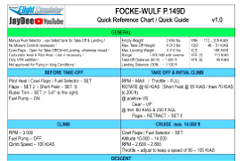 Focke Wulf Piaggio P.149D - Quick Reference Guide For Beginners Image Flight Simulator 2020