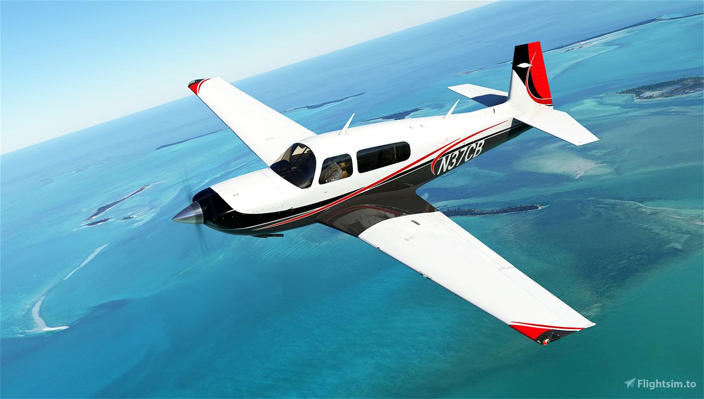 Sporty Livery for Carenado Mooney Flight Simulator 2020
