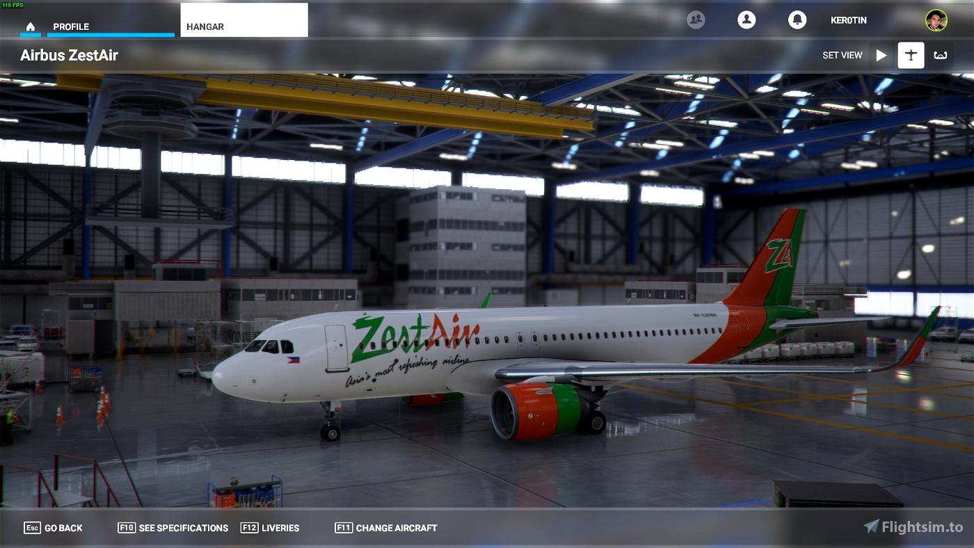 A320 Neo ZestAir Flight Simulator 2020