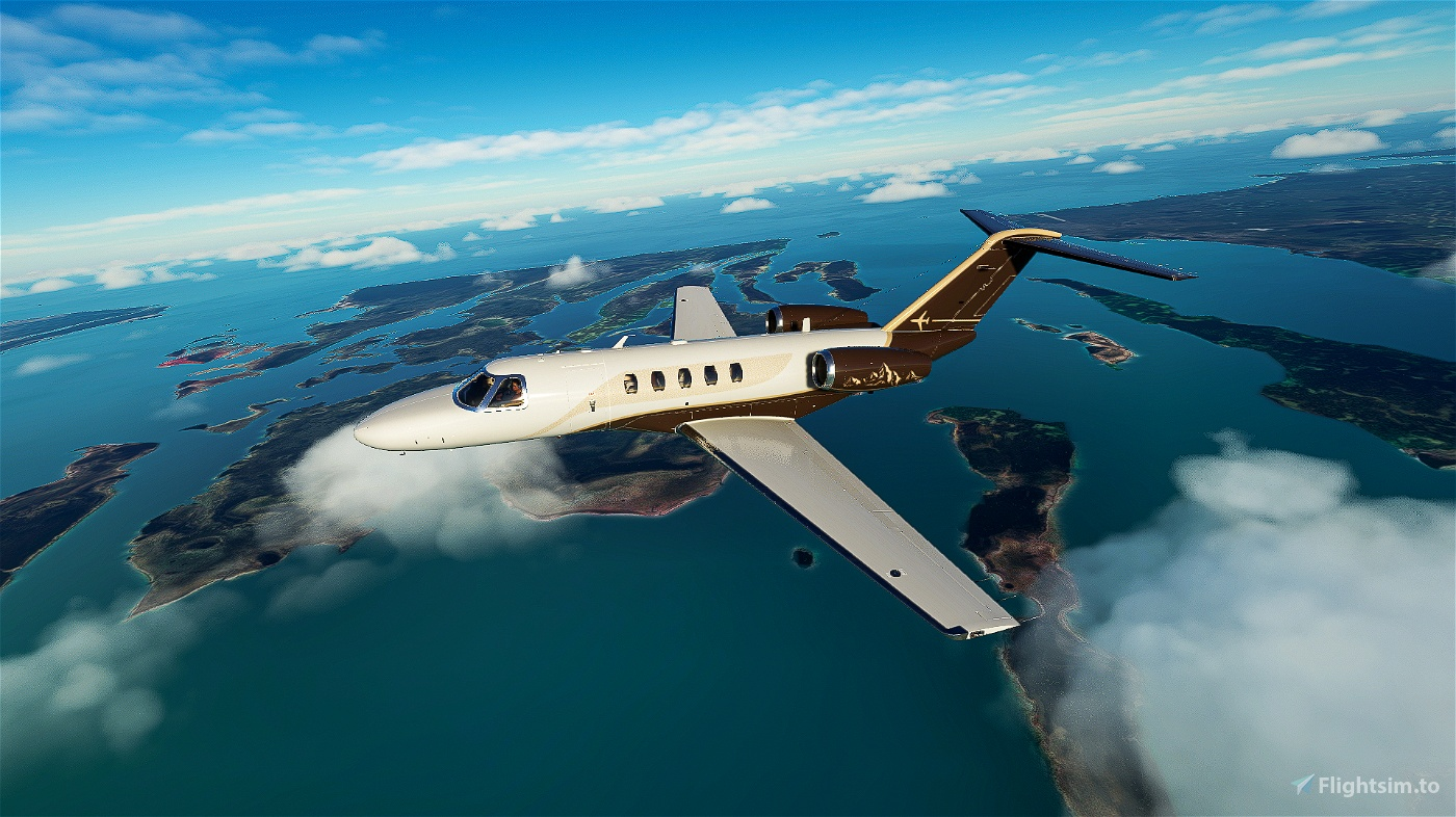 Citation CJ4 White Premium