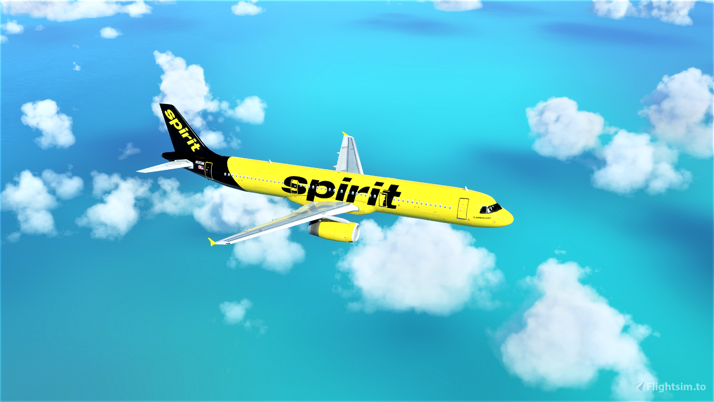 Spirit Airlines A321 (Black Tail)