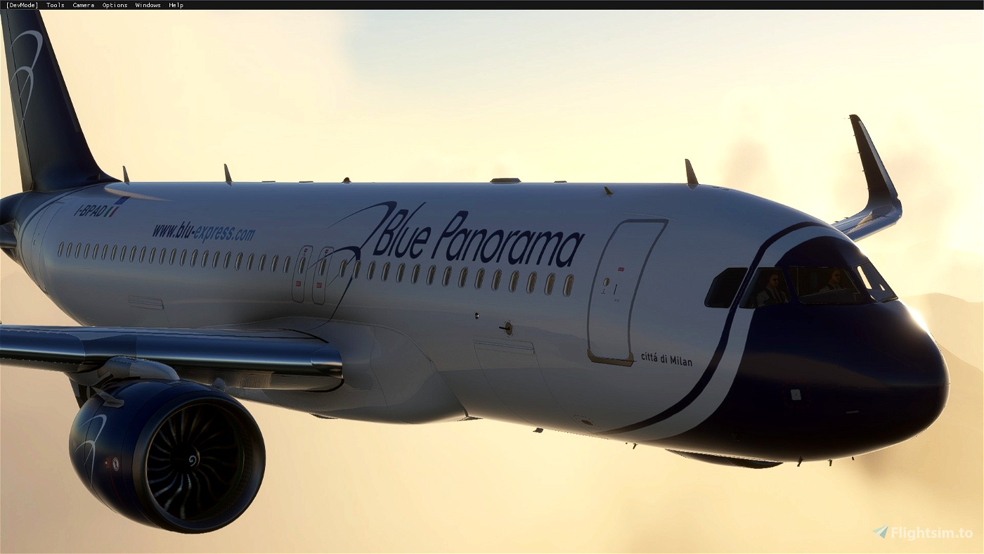 A320 NEO Blue Panorama Airlines (Italy)