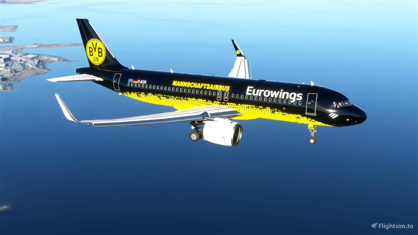 Eurowings (Mannschaftairbus) BVB(8K)[D-AIZR] Flight Simulator 2020
