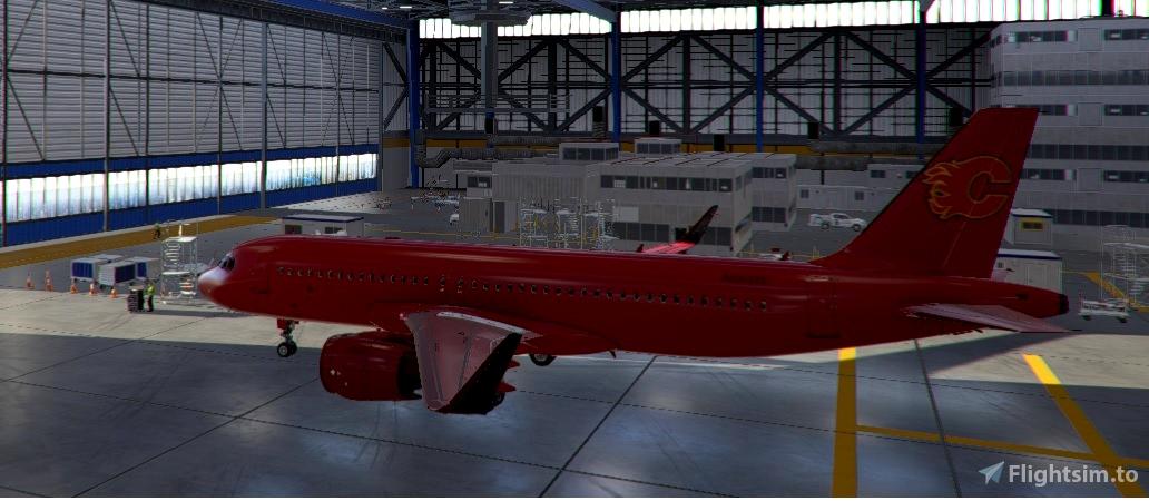 A320Neo Calgary Flames