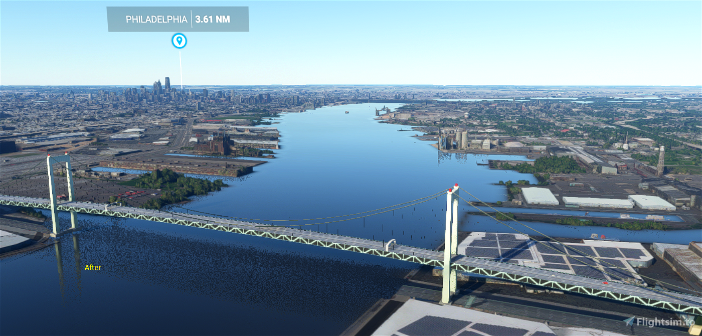 Walt Whitman Bridge Flight Simulator 2020
