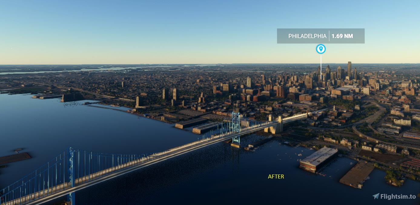 Ben Franklin Bridge Flight Simulator 2020