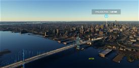 Ben Franklin Bridge Image Flight Simulator 2020