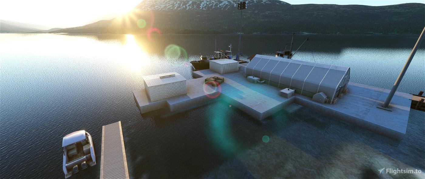 Zachar Bay Lodge/Seaplane Base. Kodiak Island, Alaska Flight Simulator 2020