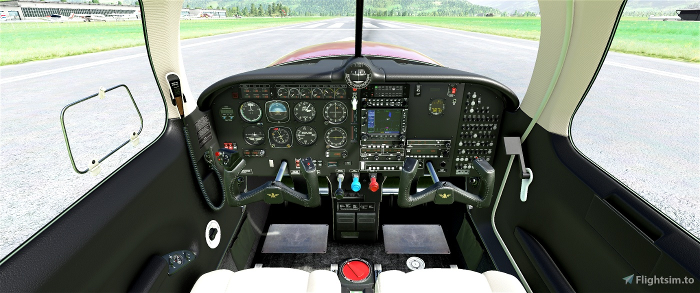 Cockpit Livery Mooney Ovation Black / Creme