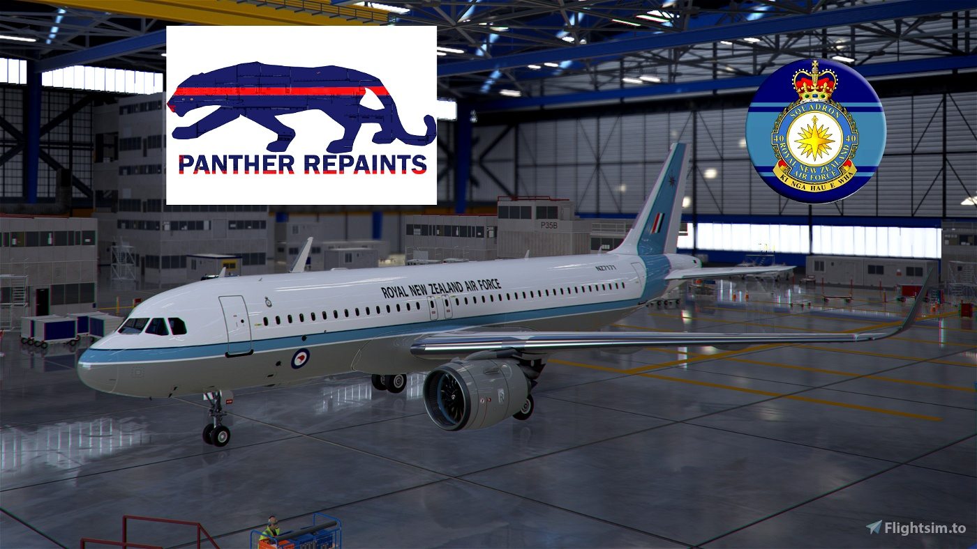 Asobo A320 NEO 40 SQN ROYAL NEW ZEALAND AIR FORCE 4K Flight Simulator 2020