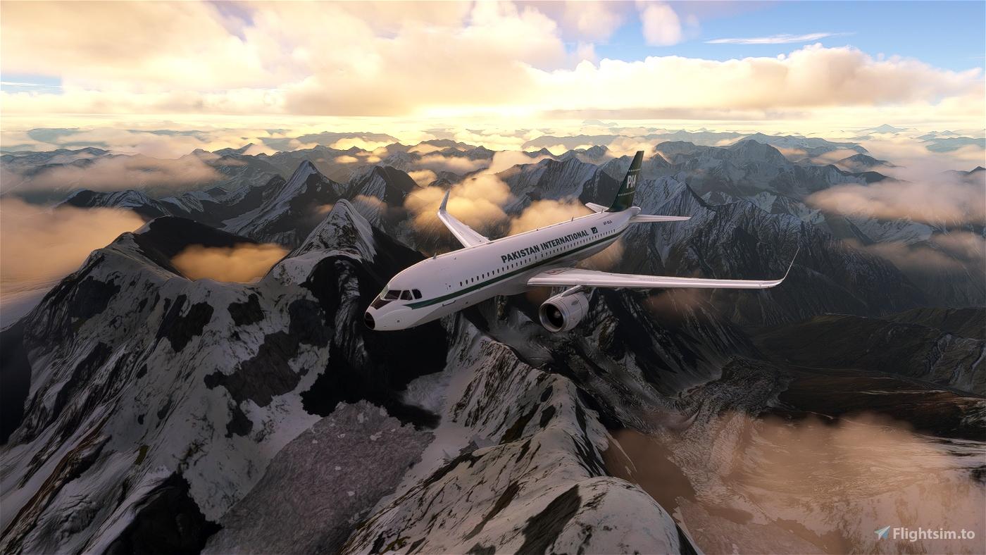 Pakistan International Airlines Retro [1960] Livery [4k] Flight Simulator 2020
