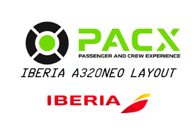 Iberia a320neo layout for PACX Image Flight Simulator 2020