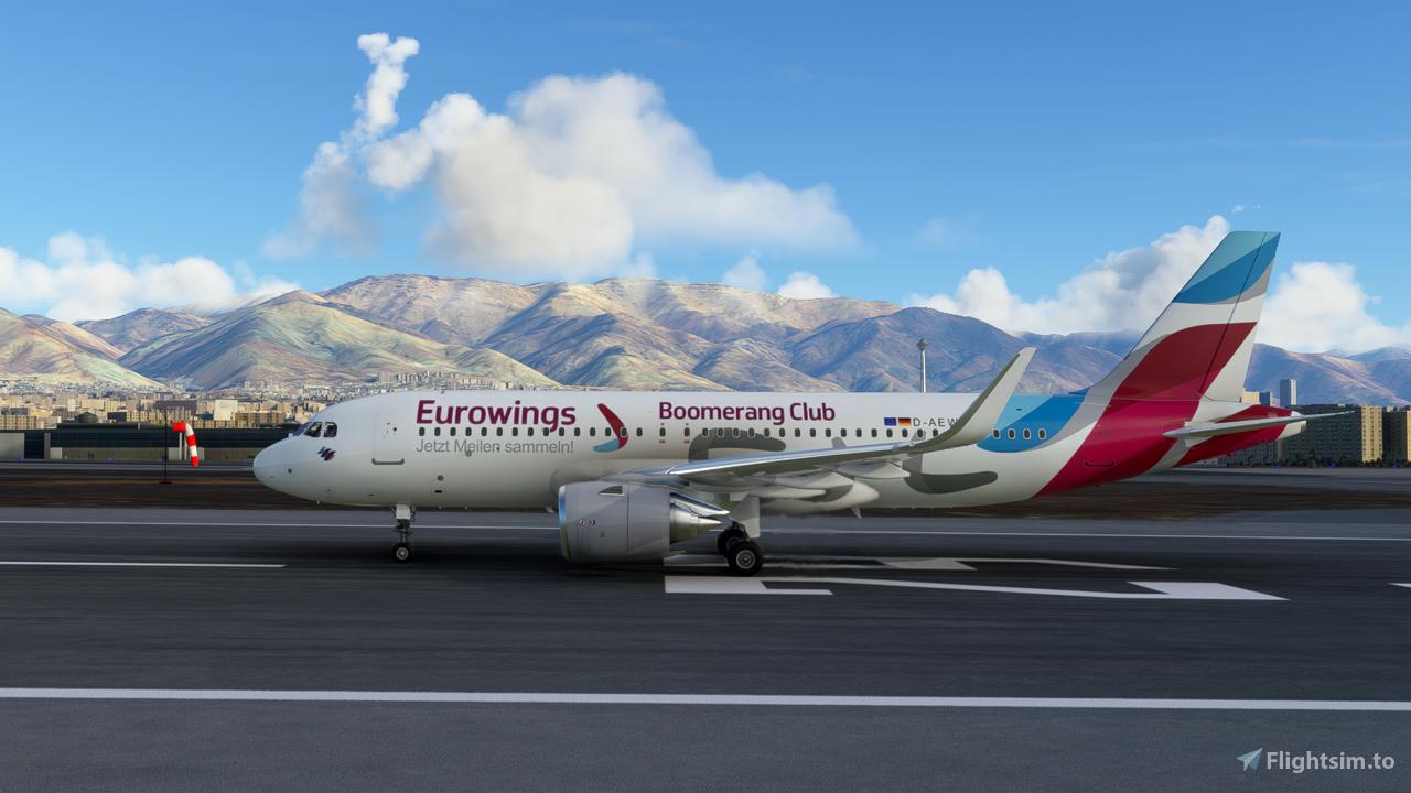 Eurowings Boomrang Club A320 Neo - 8K Flight Simulator 2020